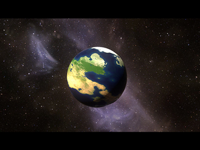 Full-Colour Earth Analog Planet  in Natural Full Color Sandstone: Small