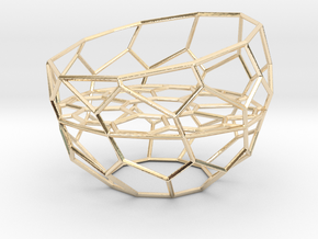 Wire Tealight Holder in 14k Gold Plated Brass