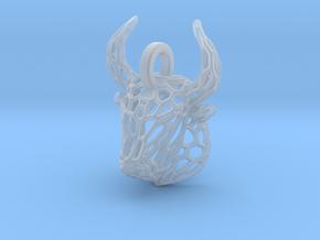 Bull Pendant in Smooth Fine Detail Plastic