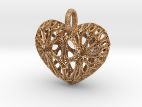 Heart Pendant in Natural Bronze