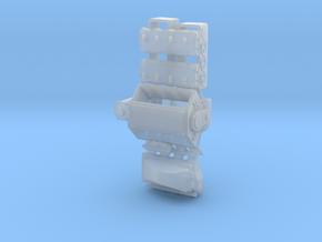 Mountan Motor 1/24 w/alient turbo intake in Smooth Fine Detail Plastic