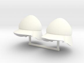 BEOTIAN HELMET #3 x2  in White Processed Versatile Plastic