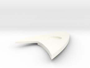 Star Trek Discovery Badge (Medical) in White Processed Versatile Plastic