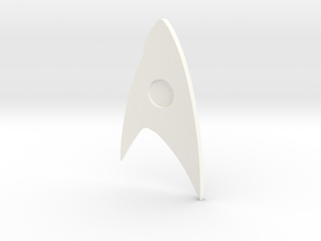 Star Trek Discovery Badge (Command) in White Processed Versatile Plastic