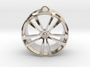 Wheel cast in Rhodium Plated Brass