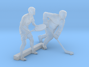 O Scale Tennis and Hockey Players in Smooth Fine Detail Plastic