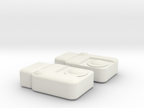 Boushh Belt Greeblies in White Natural Versatile Plastic