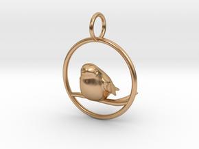 Robin Pendant in Polished Bronze
