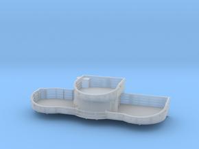 1/96 USN midship 4th deck starboard gun tub bofors in Smooth Fine Detail Plastic