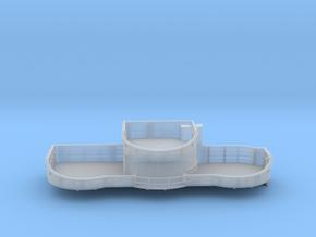 1/96 USN midship 4th deck port gun tub bofors in Smooth Fine Detail Plastic