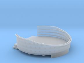 1/96 USN 40mm Quad Gun Tub Aft Superstructure port in Smooth Fine Detail Plastic