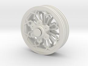 XRim HRad HexHex1 in White Natural Versatile Plastic