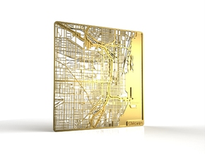 Chicago in 18k Gold Plated Brass