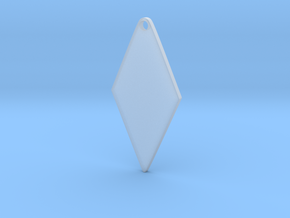 Cosplay Zipper Pull (Rhombus) in Smooth Fine Detail Plastic