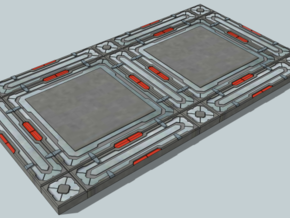 SciFi Tile 18 - Deck Plate in White Strong & Flexible