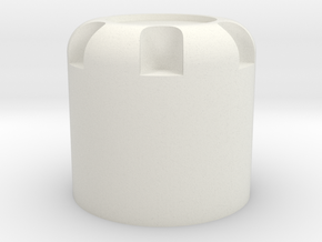 Scale 1/10 M4 nut cap in White Natural Versatile Plastic