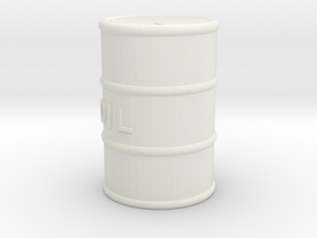 Printle Thing Oil Barrel - 1/24 in White Natural Versatile Plastic