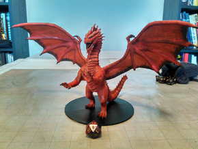 Ancient Red Dragon - Colossal Sized in White Natural Versatile Plastic