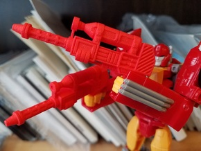 5mm Earth Wars Dual Hot Rod Guns in Red Processed Versatile Plastic
