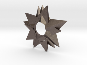 Ninja Star in Polished Bronzed-Silver Steel