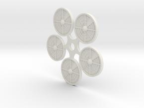 (5) Ambush/Sensor Tokens in White Natural Versatile Plastic