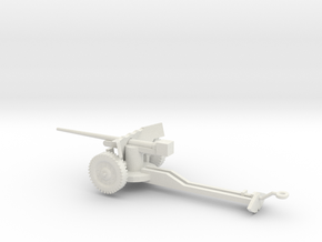 1/72 Scale M1A3 57mm Anti Tank Gun in White Natural Versatile Plastic