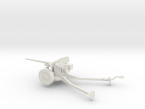 1/100 Scale M1A3 57mm Anti Tank Gun Deployed in White Natural Versatile Plastic