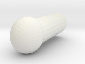 Megatron Ankle ball joint v1 in White Natural Versatile Plastic