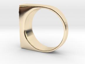 Moonwalk Ring  in 14k Gold Plated Brass: 7 / 54