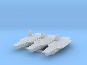 Nimitz class Carrier x3 (Axis & Allies) in Smooth Fine Detail Plastic
