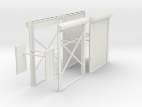 1/48th Truck shop or warehouse door set in White Natural Versatile Plastic
