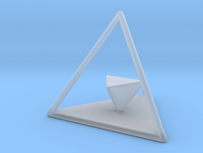 Dual Solids Tetrahedron (no hole) in Smooth Fine Detail Plastic