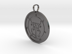 Gremory Medallion in Polished Nickel Steel
