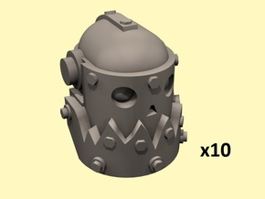 28mm Space orc metal heads in Smoothest Fine Detail Plastic