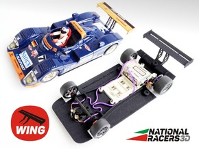 3D chassis - Fly Joest TWR Porsche WSC 95 (SW/IN) in Black Natural Versatile Plastic