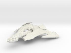 Klingon Ka'Des Class  Destroyer in White Natural Versatile Plastic