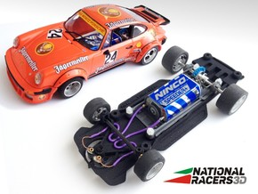 3D chassis for Fly Porsche 911/934 (Inline​) in Black Natural Versatile Plastic