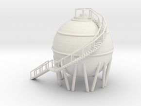 Spherical Chemical Tank 'O' 48:1 Scale in White Natural Versatile Plastic