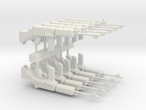 L1A1RifleSet version2 short in White Natural Versatile Plastic