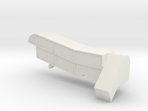 Steam Combine Thresher Body  in White Natural Versatile Plastic