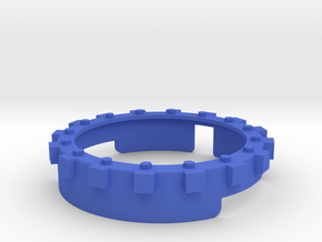 Moto 360 techno bumper in Blue Processed Versatile Plastic