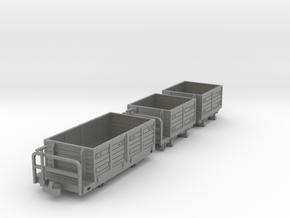 Heeresfeldbahn Goodswagon Pack in Gray PA12
