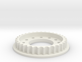 Riemenrad XRider 33z in White Natural Versatile Plastic