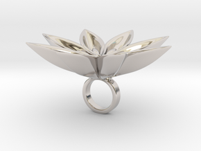 Floachi big - Bjou Designs in Rhodium Plated Brass