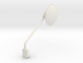 1/24 peterbilt 379 corner Mirror Right in White Natural Versatile Plastic: 1:24