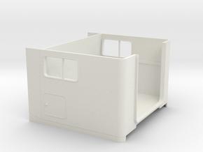 1/24 peterbilt Unibilt Sleeper  cabin in White Natural Versatile Plastic: 1:24