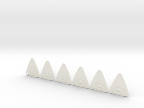 Shaped Guitar Pick in White Processed Versatile Plastic