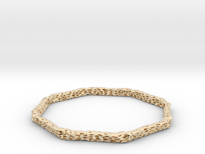 bracelet 45 degrees voro simplified (1) in 14k Gold Plated Brass