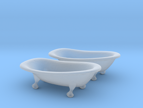 O Scale Clawfoot Bathtubs in Smooth Fine Detail Plastic