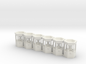 6 Pusher - Maschines for 1:87 (H0 Scale) in White Natural Versatile Plastic